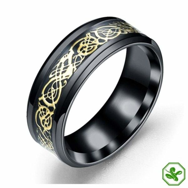 gold and silver blue celtic snake ring