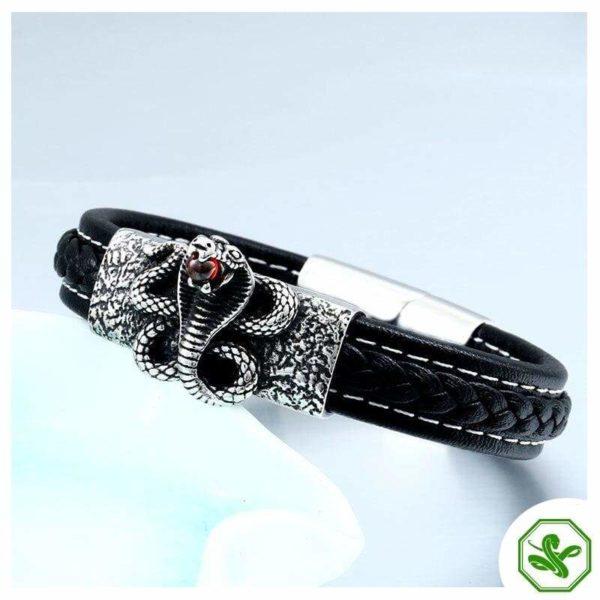 snake bracelet with red diamond
