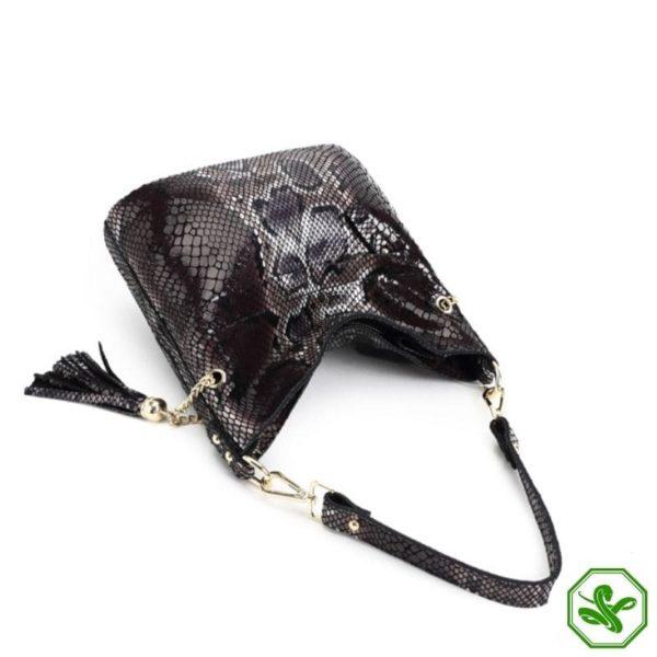 women's cobra skin bag