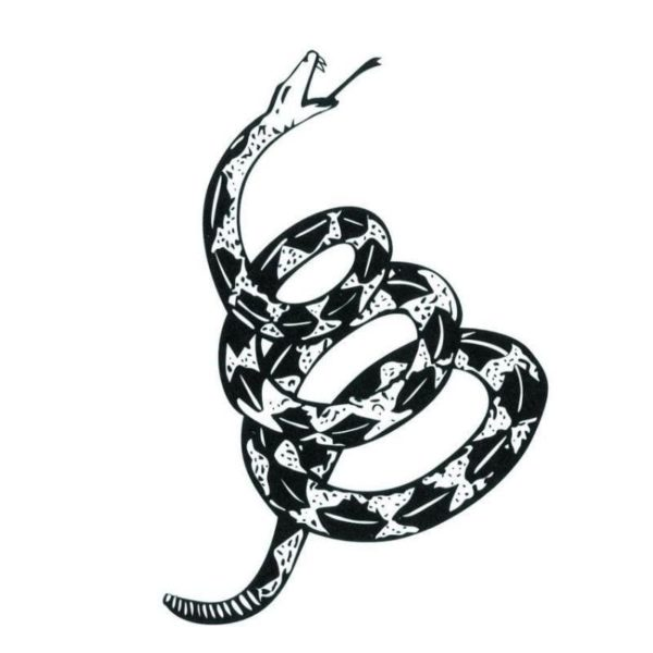 Coiled Snake Tattoo 1