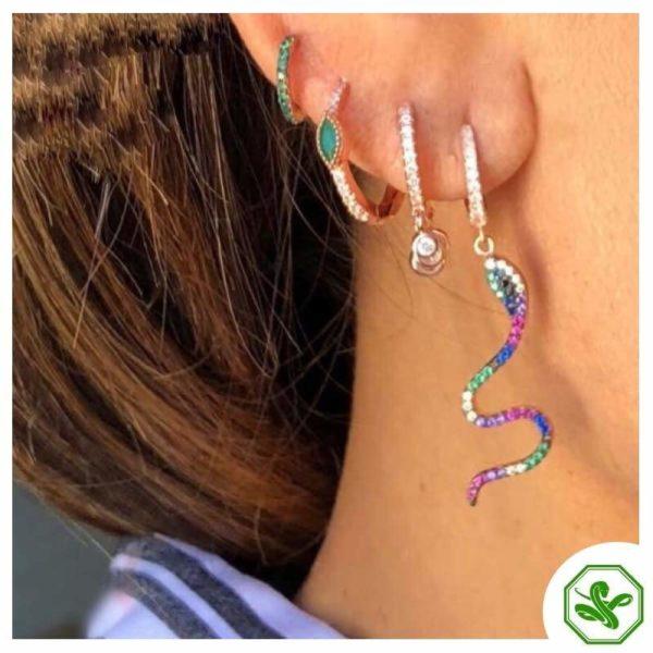 Colorful Snake Earrings 4
