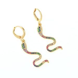 Colorful Snake Earrings 1
