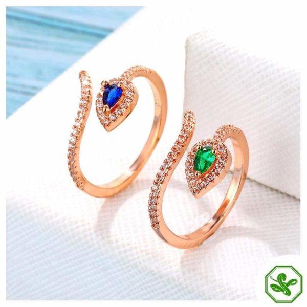 Copper Snake Ring 2