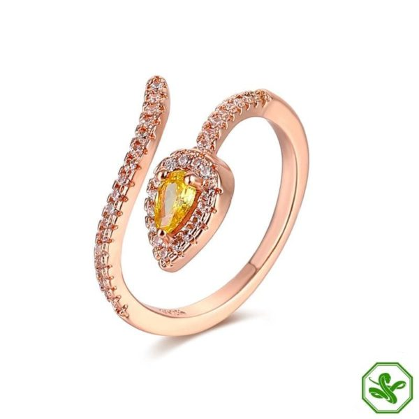 Copper Snake Ring 8