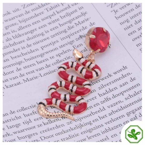 coral snake earrings ruby