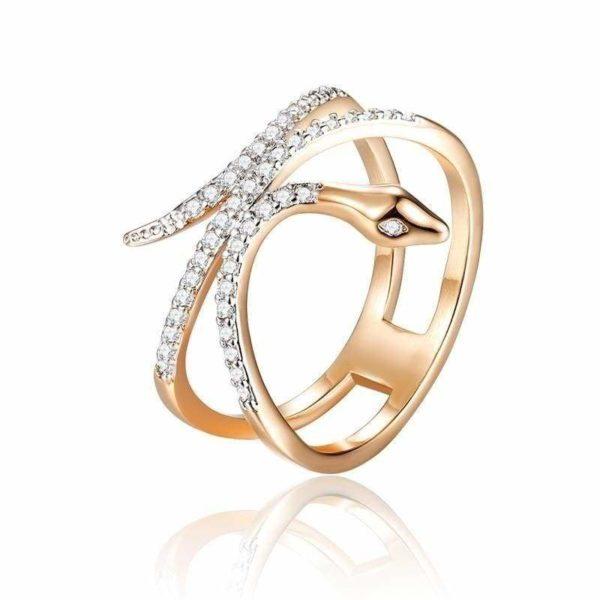 Dark Rose Jewlery Snake Ring 1