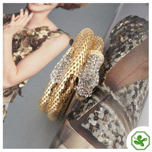 gold snake bracelet with diamonds