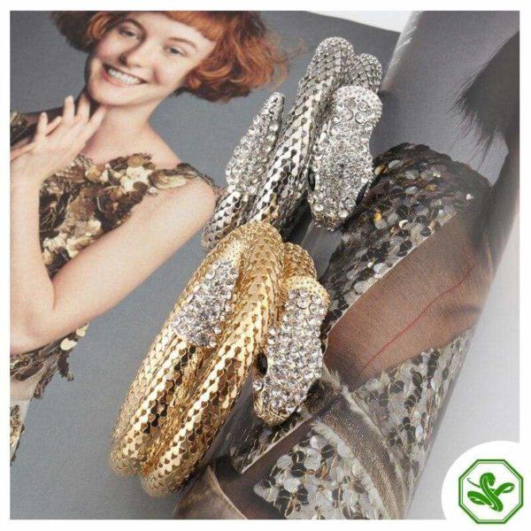 snake bracelets with diamond head