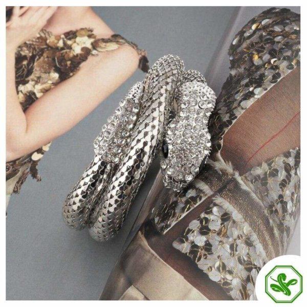 silver snake bracelet for women