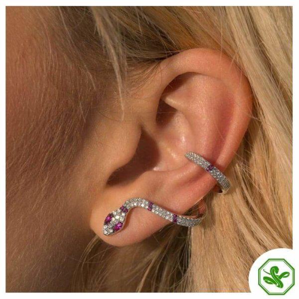 Diamond Snake Earrings 6
