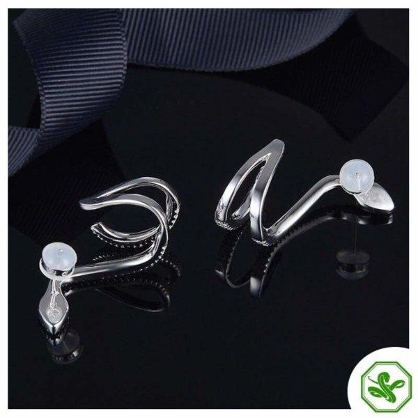 Diamond Snake Earrings 5