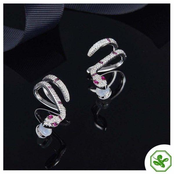 Diamond Snake Earrings 4