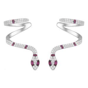 Diamond Snake Earrings 1