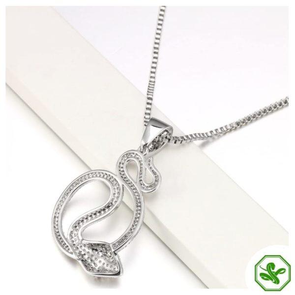 diamond snake pendant necklace