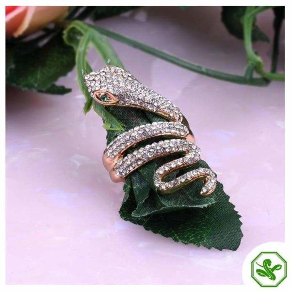 snake ring boa green eyes