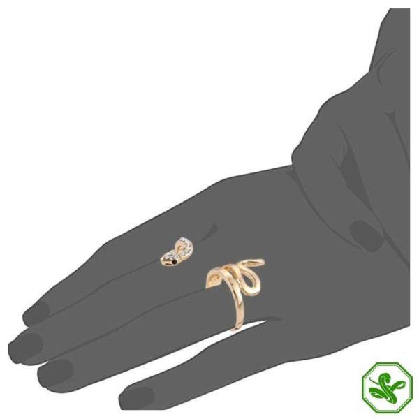 double-finger-snake-ring 5