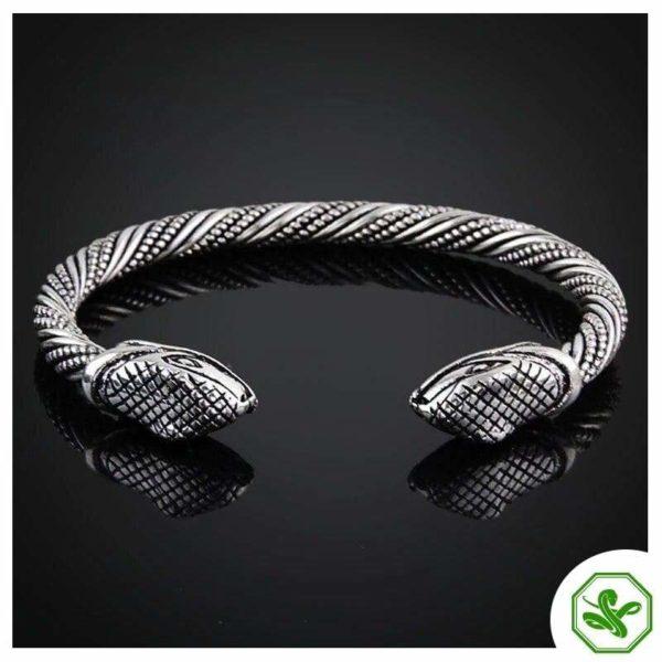 siamese silver snake bracelet