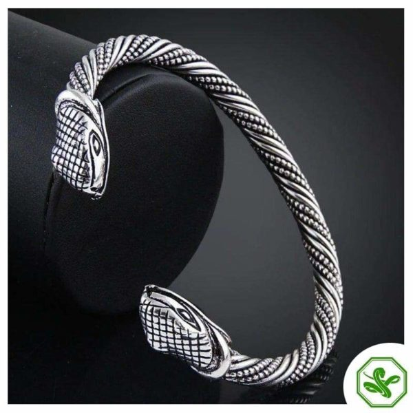 silver snake bracelet with two heads