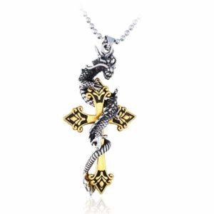 Snake Pendant Dragon Cross 1