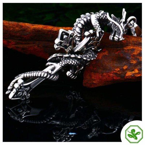 Snake Pendant Dragon Cross 7