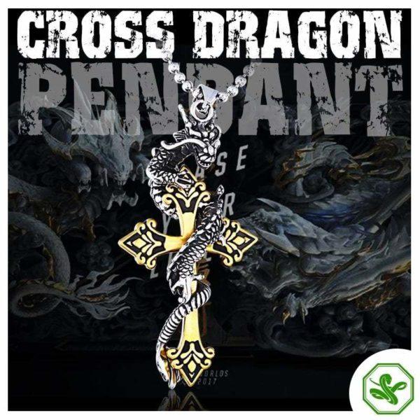 Snake Pendant Dragon Cross 2