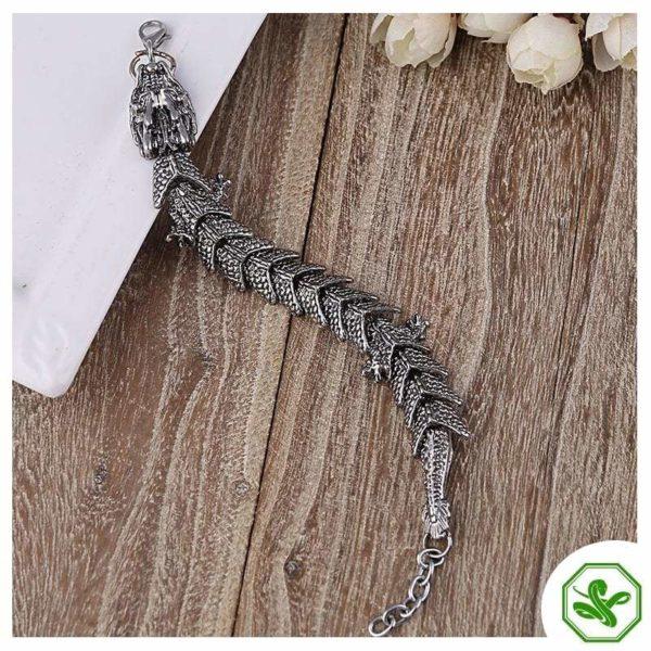 dragon snake bracelet stainless steel