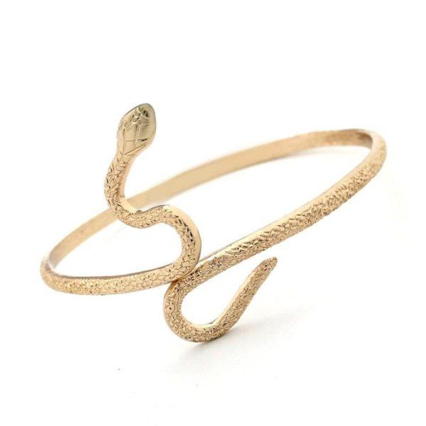 egyptian snake steel bracelet