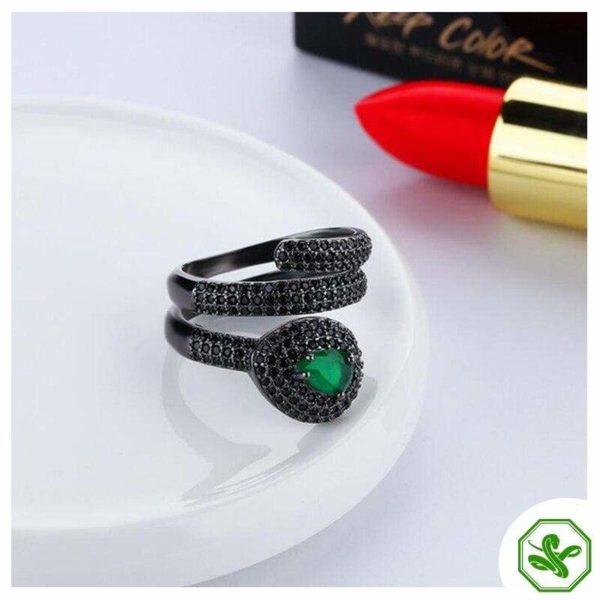 Emerald Snake Ring 5