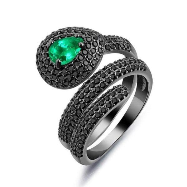 Emerald Snake Ring 1