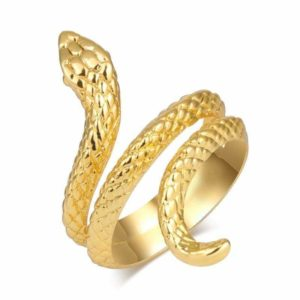 gold plated snake ring