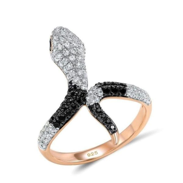 Gold Rose Snake Ring 1