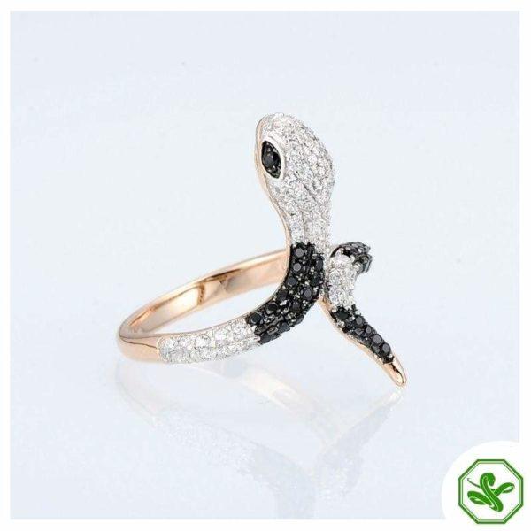 Gold Rose Snake Ring 2