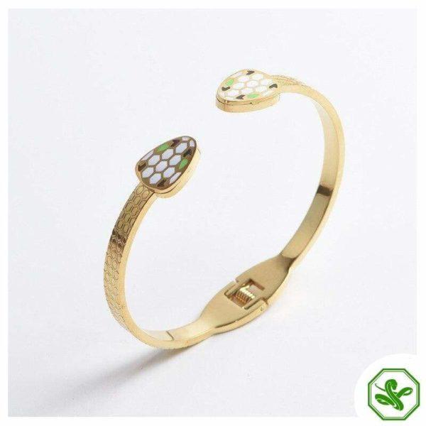 golden snake bracelet