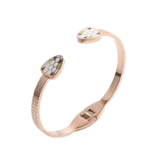 pink golden snake bracelet