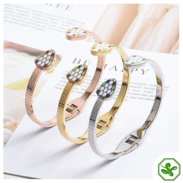 gold snake bracelets woman