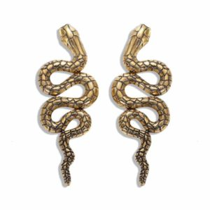 Gold Serpent Earrings 1