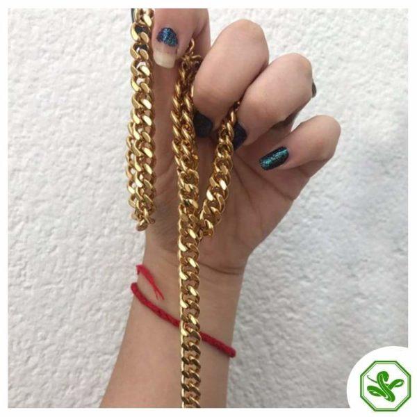 gold cuban snake chain