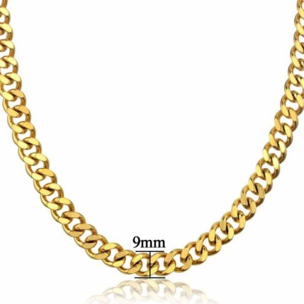 cuban snake chain Gold