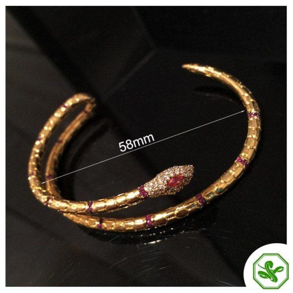 length gold snake bracelet