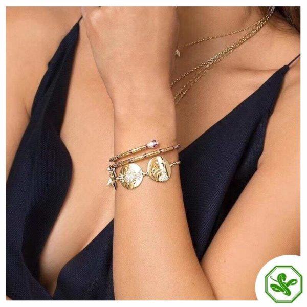 gold snake bracelet for woman
