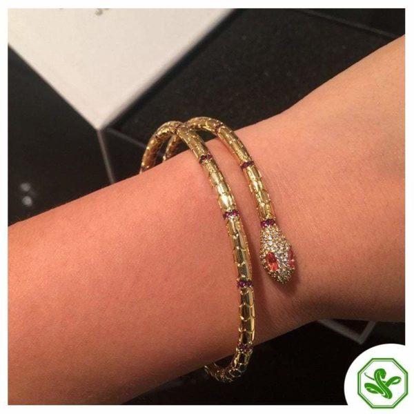 elegant gold snake bracelet