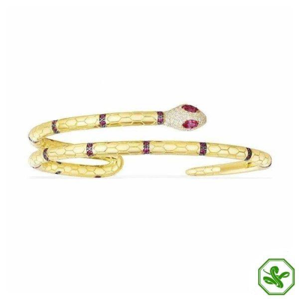 luxury gold snake bracelet
