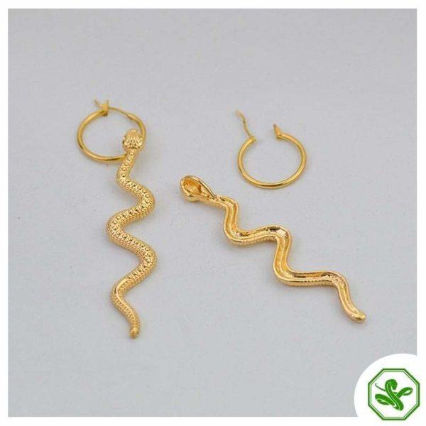 real gold snake earrings