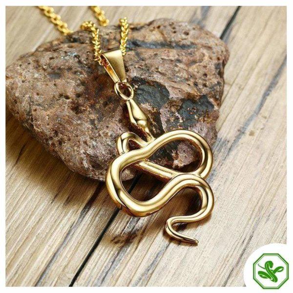 snake pendant necklace
