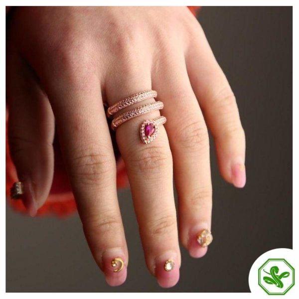 gold-snake-pinky-ring 3