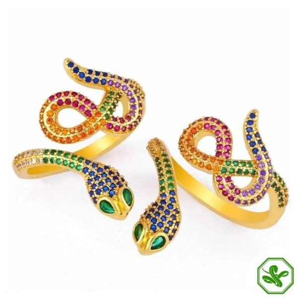 gold-snake-ring-with-diamonds 3