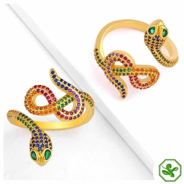 gold-snake-ring-with-diamonds 2