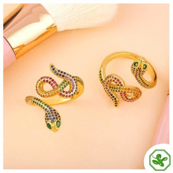 gold-snake-ring-with-diamonds 4
