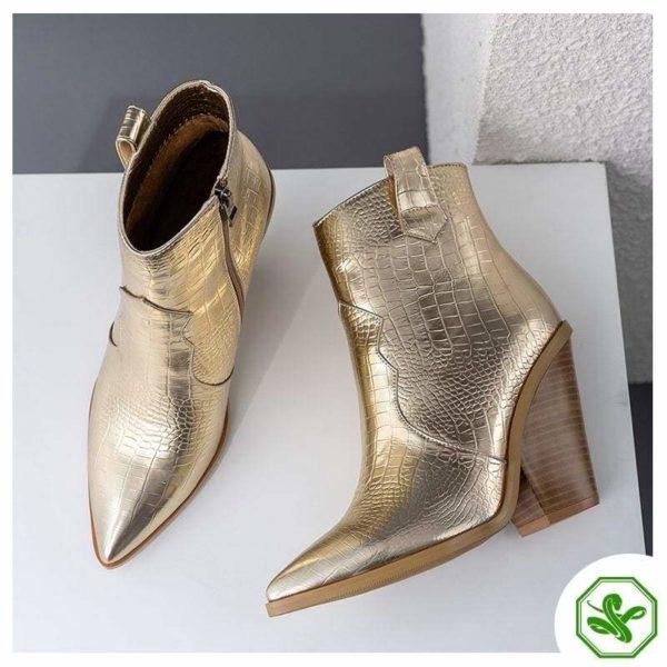 golden snake boots