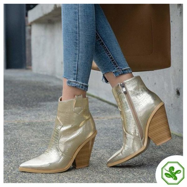 golden snake boots for woman